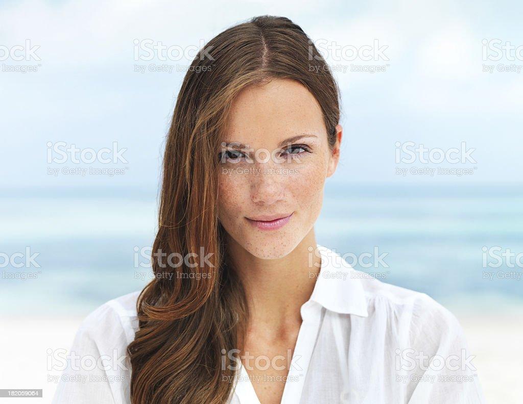 Serene and self-assured stock photo