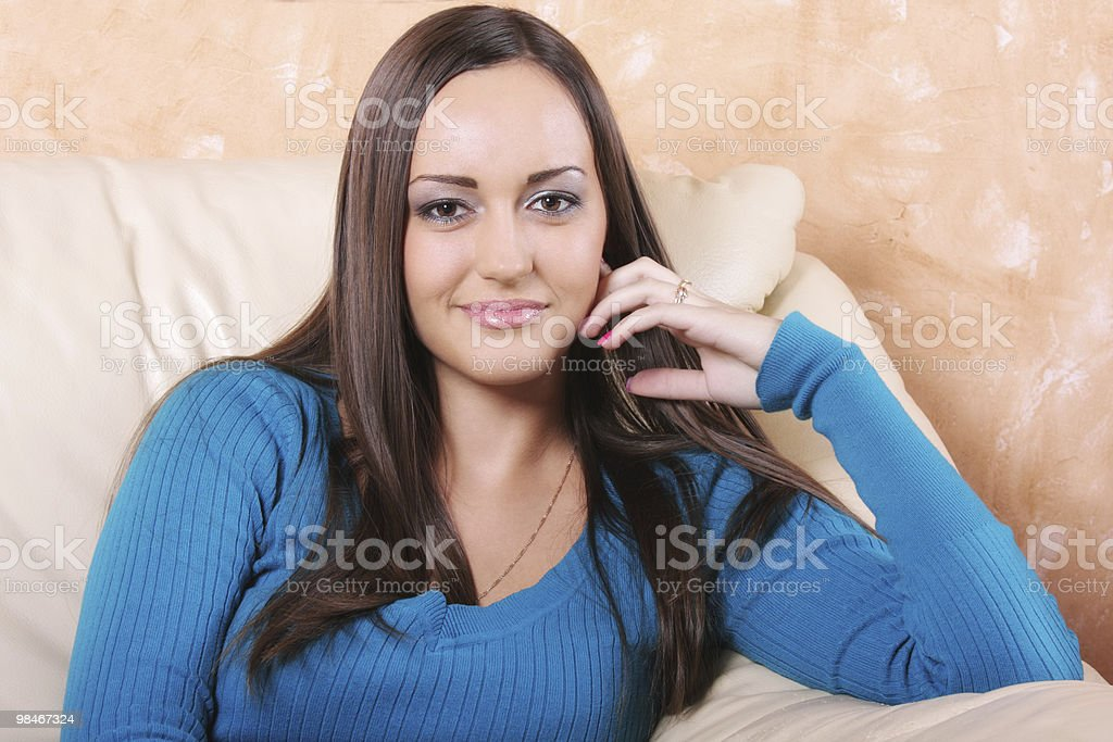 Donna Serena brunette foto stock royalty-free
