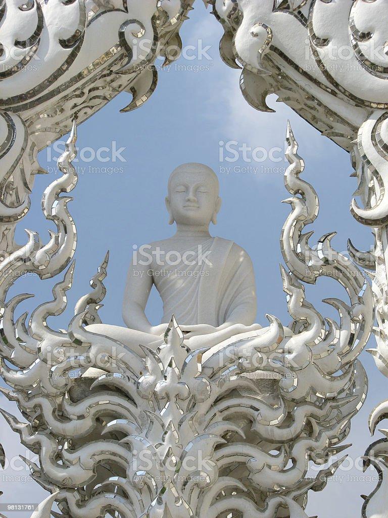Serene Buddha at Wat Rong Khun royalty-free stock photo