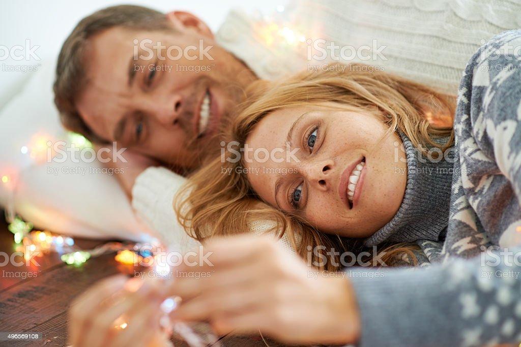 Serene couple stock photo