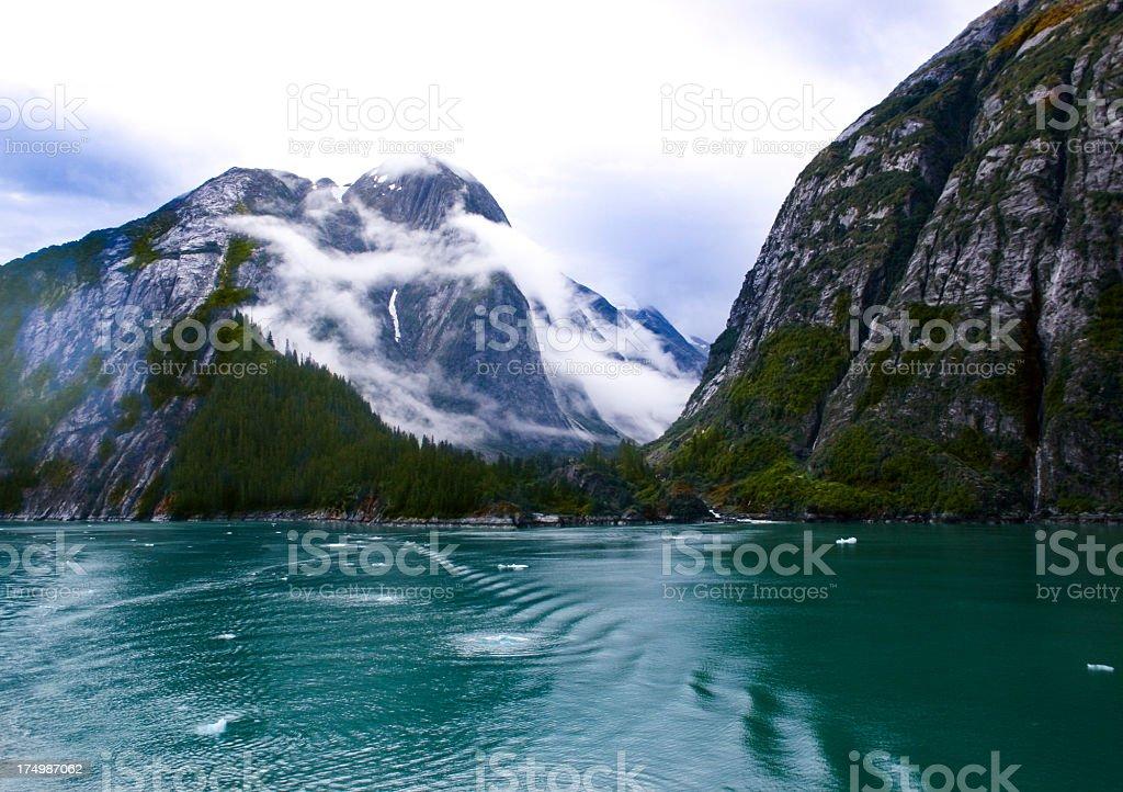 Serene Fjord in Alaska stock photo