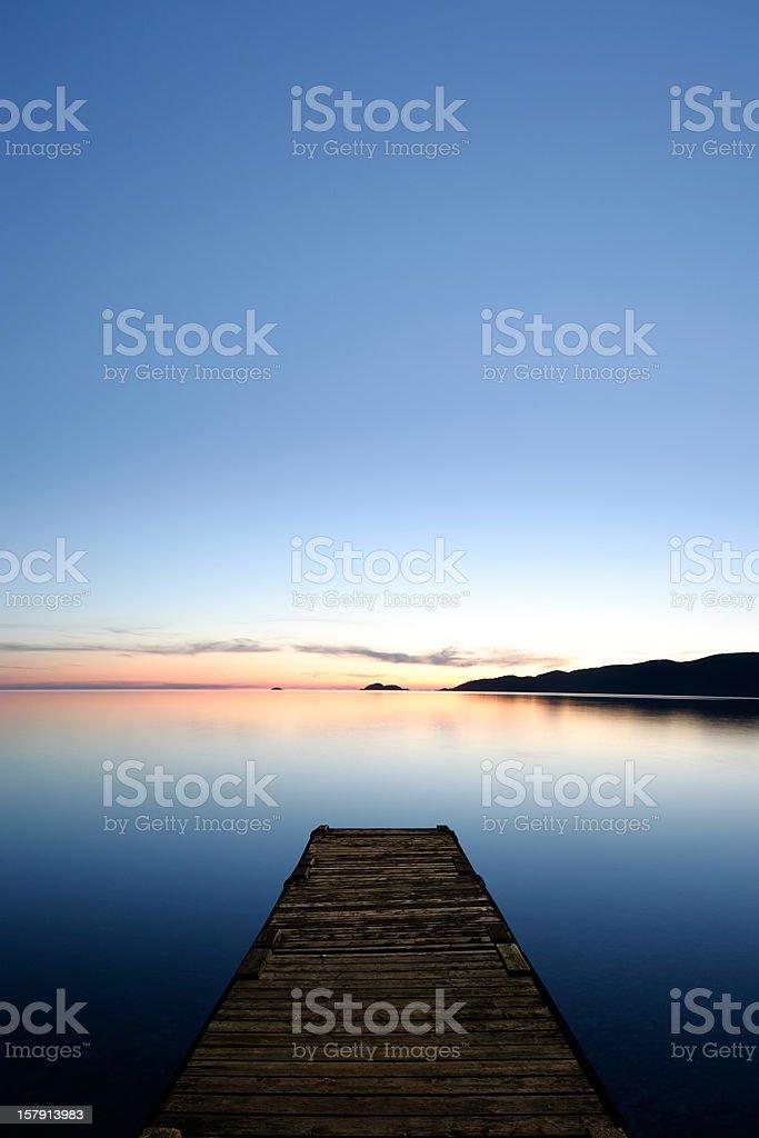 XXXL serene lake with dock royalty-free stock photo