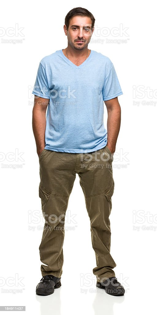 Serene Man With Hands in Pockets royalty-free stock photo
