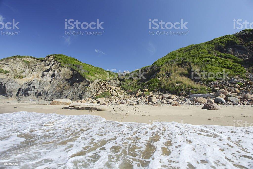 Serene new england beach royalty-free stock photo