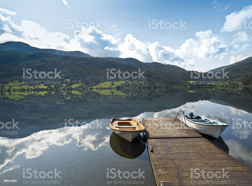 Serene Scenery in th norweigan fjords royalty-free stock photo