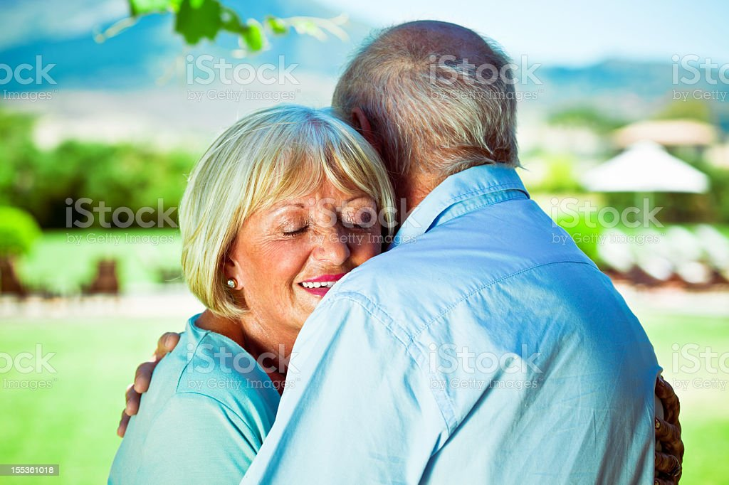 Serene seniors  60-64 Years Stock Photo