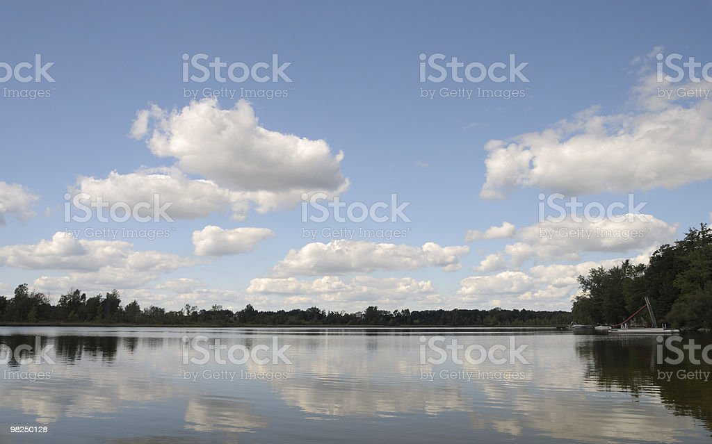 Tranquillo lago Michigan in estate foto stock royalty-free