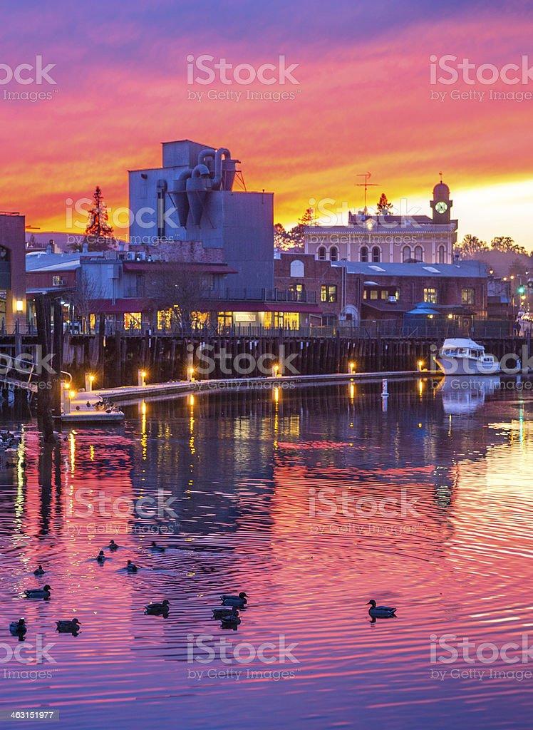 Serene Sunset stock photo