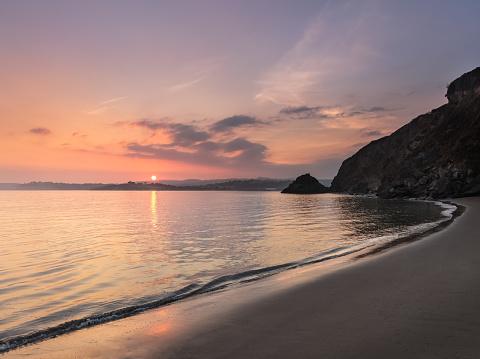 Serene Sunset, Polkerris Beach, Cornwall