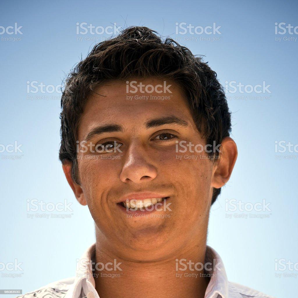 Serene Teenager Portrait royalty-free stock photo