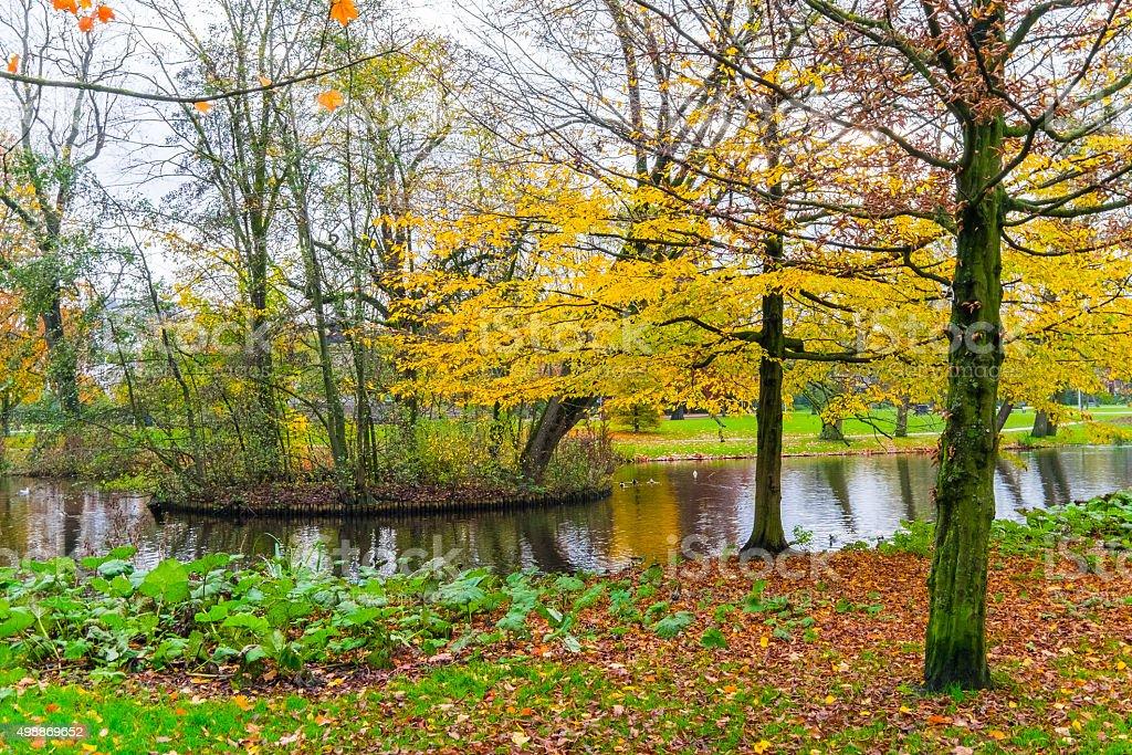 Serene View from Vondelpark stock photo