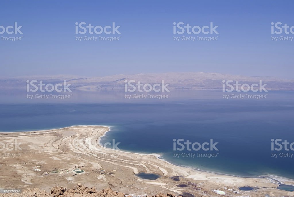 Serene view of the Dead Sea royalty-free stock photo