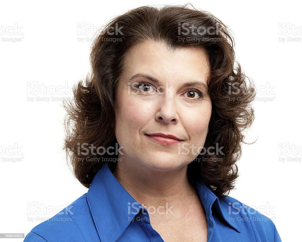 Serene Woman Headshot Portrait royalty-free stock photo