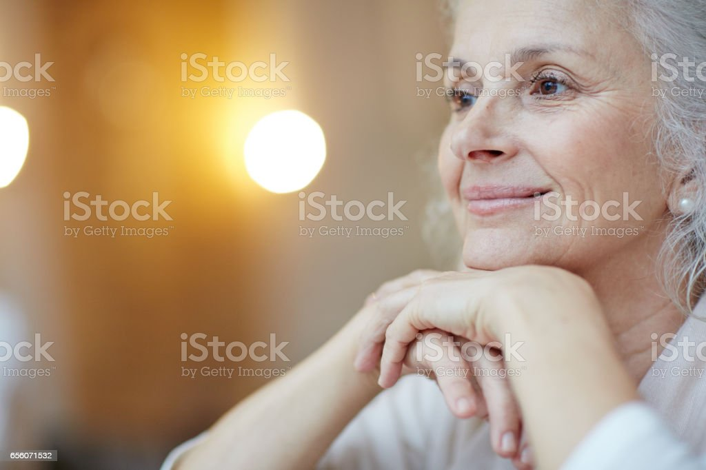 Serene woman royalty-free stock photo