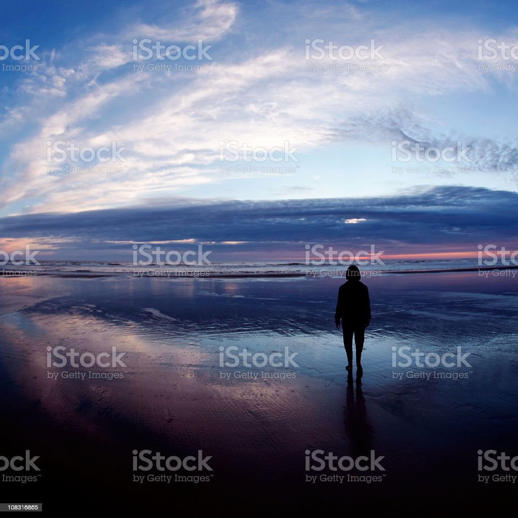 XL serene woman silhouette royalty-free stock photo
