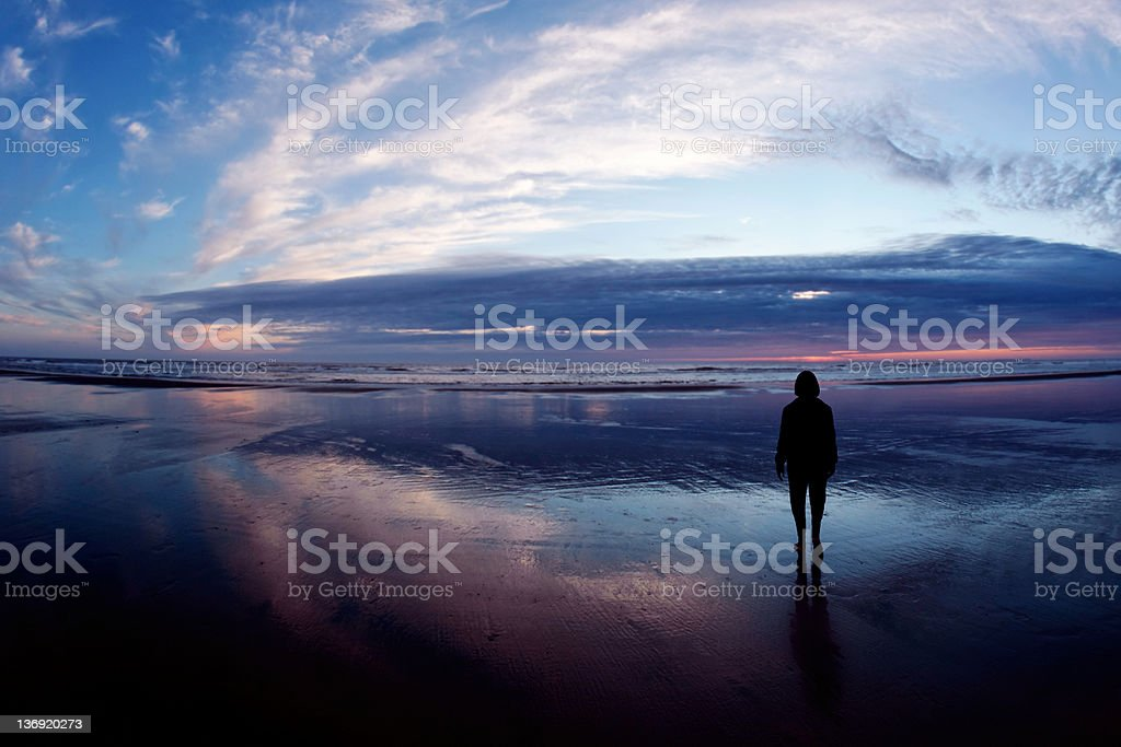 XL serene woman silhouette royalty-free stock photo