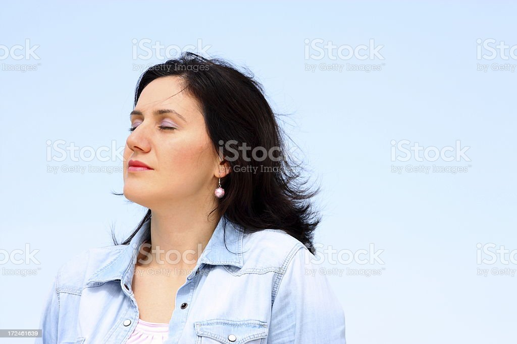 Serene young woman royalty-free stock photo