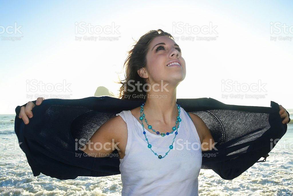 Serene Young Woman stock photo