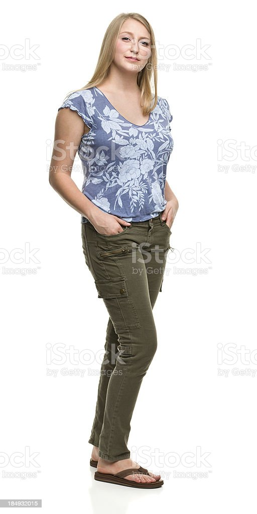 Serene Young Woman Standing Portrait royalty-free stock photo