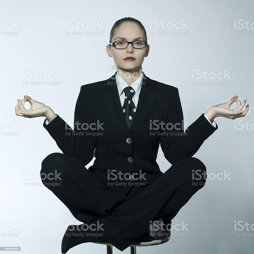 serene zen businesswoman woman foto