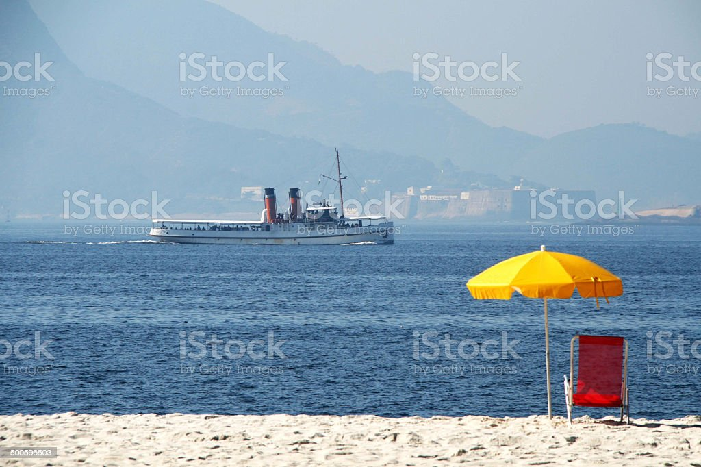 Serenidade à beira-mar stock photo