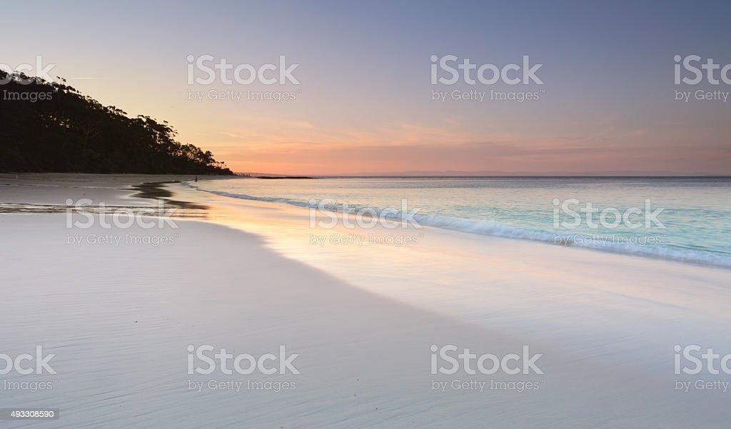 Serenity at Murrays Beach at sundown stock photo