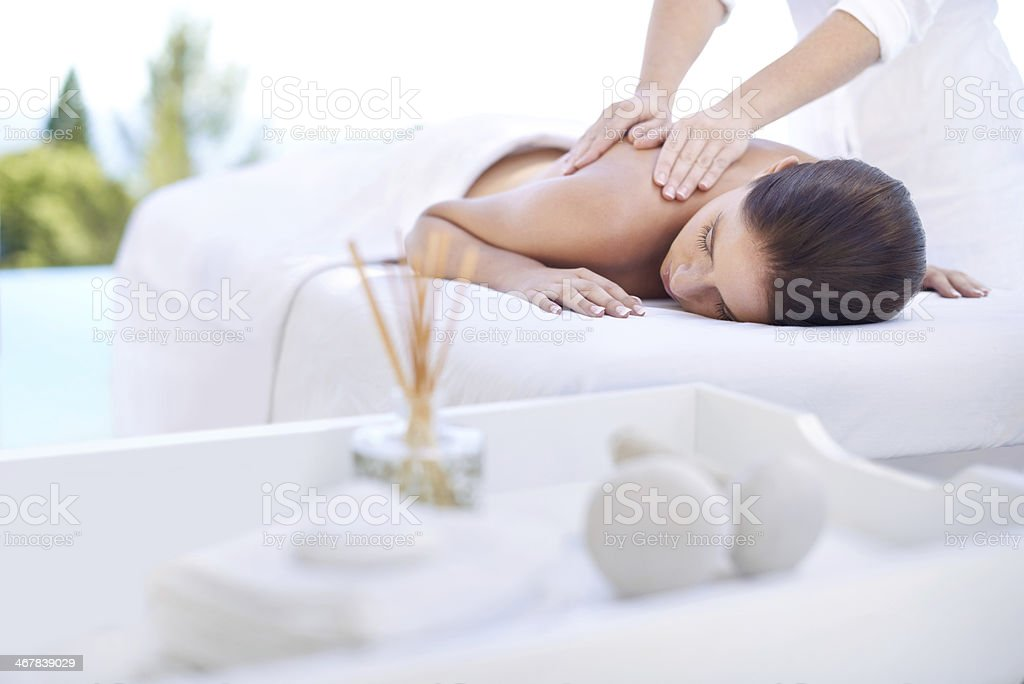 Serenity at the spa stock photo