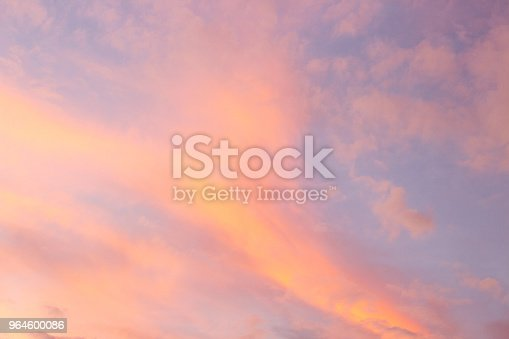 Serenity Blue And Rose Quartz Sky Stock Photo More Pictures Of