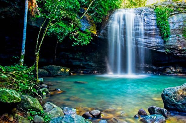 Serenity Falls in Buderim stock photo