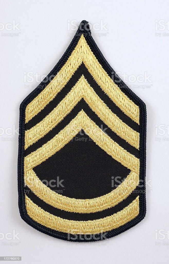 U.S. Sergeant First Class Rank Insignia stock photo