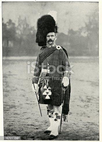 Vintage photograph of Sergeant major J. McKae of the Argyll and Sutherland Highlanders, 19th Century