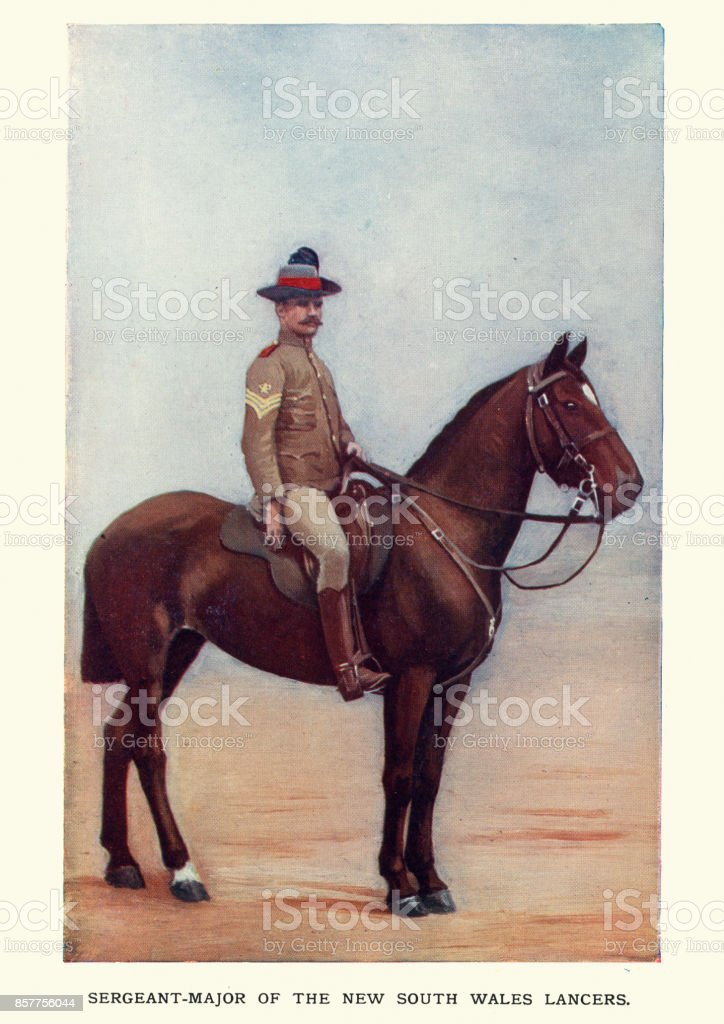 Sergeant major of the New South Wales Lancers, 1900 stock photo