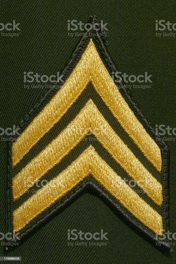 Sergeant Stripes royalty-free stock photo