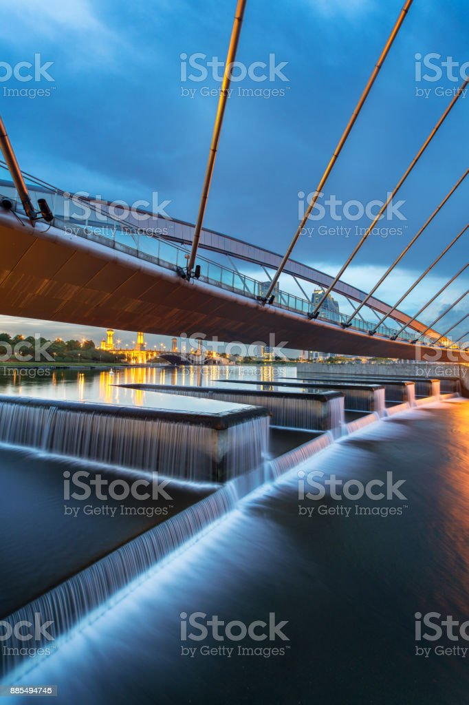 Seri empangan bridge stock photo