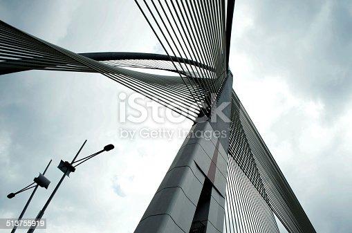 istock Seri Wawasan Bridge of Putrajaya, Malaysia 513755919