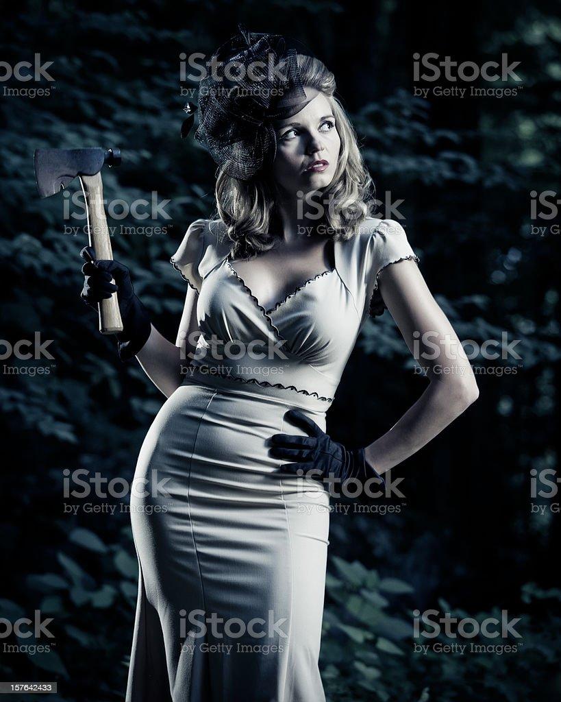 serial killer woman royalty-free stock photo