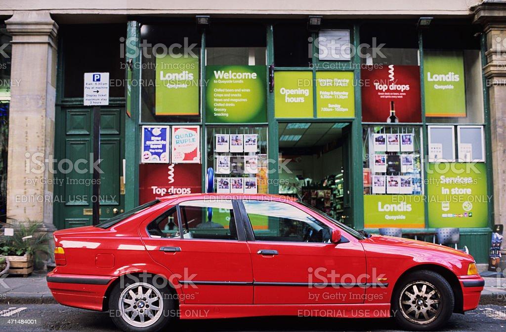 Series 3 (E46) BMW in Newcastle stock photo