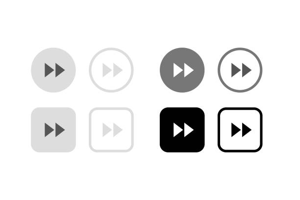 音楽プレーヤーのためのシリーズボタン ストックフォト