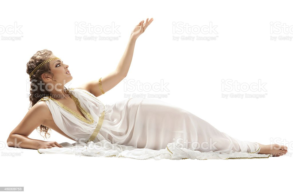 Series: Classical Greek Goddess in Tunic royalty-free stock photo