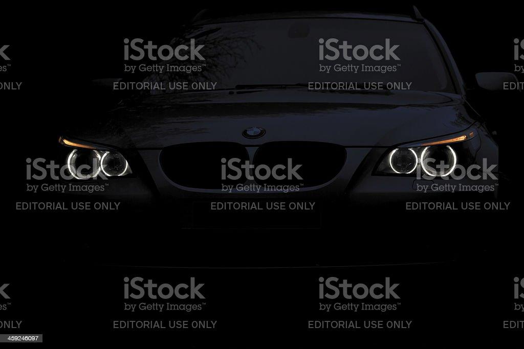 BMW 5 Series E61 Angel Eyes Night Shot stok fotoğrafı