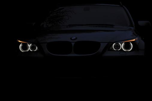 Bmw 5 Series E61 Angel Eyes Night Shot Stock Photo - Download Image Now
