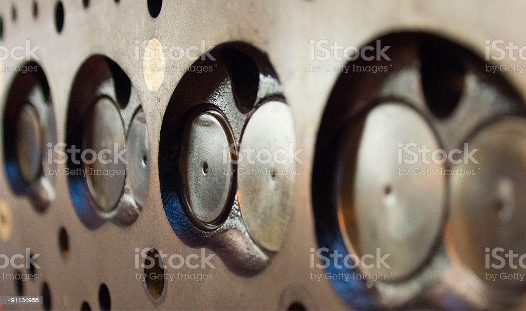 Series Engine Cylinder Head stock photo