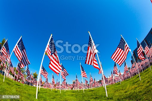 579407234istockphoto Series: Field of American flags 675756426