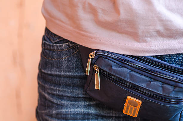 series: male belt bags pouches - waist bag stock photos and pictures