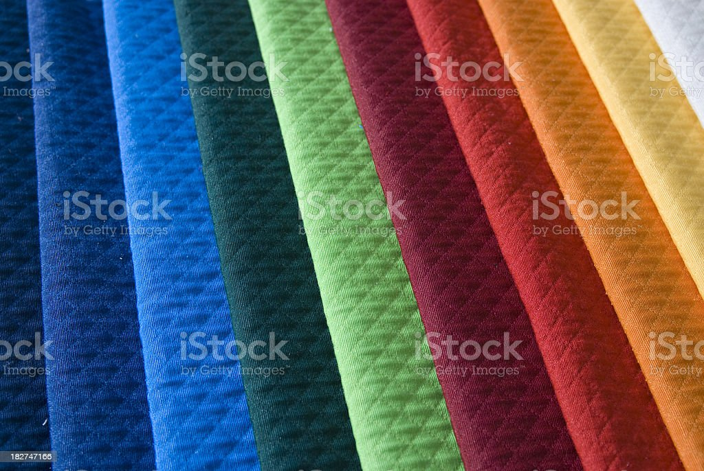 series of clothes tissue in various colors royalty-free stock photo