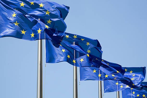 Series of European flags stock photo