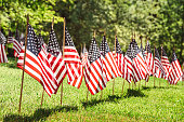 series of flags for the memorial day