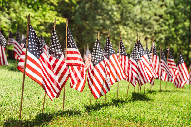 series of flags for the memorial day stock photo