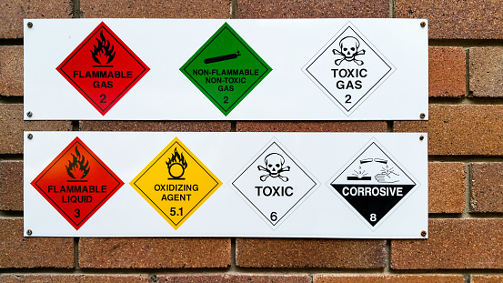 A series of flammable, non-flammable, toxic, corrosive and oxidizing gas and chemical