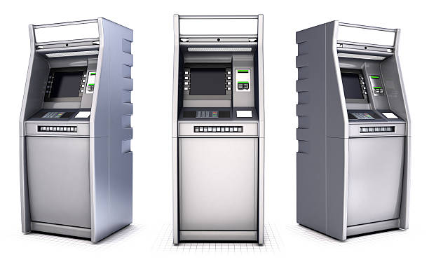 ATM series of images stock photo